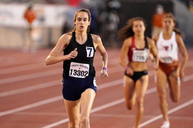 Former Texas tennis and basketball player Sarah Lancaster won the women's invitational 1,500-meter run at this year's Texas Relays in March, with a winning time of 4 minutes, 14.87 seconds. She's competing in this week's U.S. Olympic Trials in both the 1,500 and the 5,000.