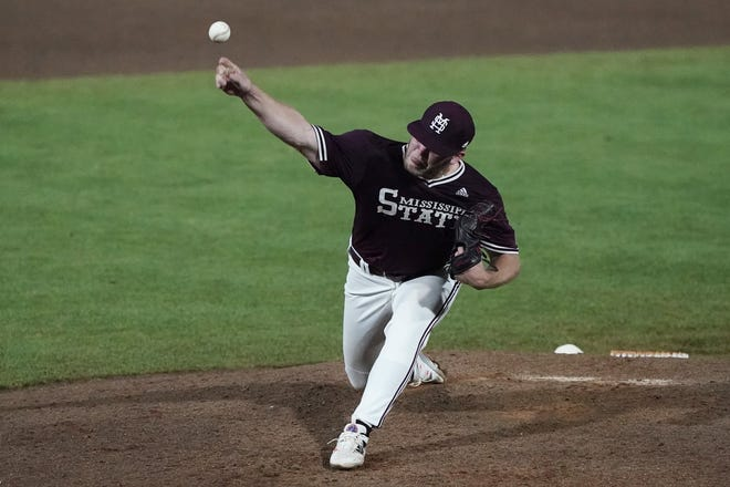 Mississippi State closer Landon Sims recorded his 10th save of the season during the super regionals against Notre Dame last week. The former starter has transitioned into one of the country's top closers.