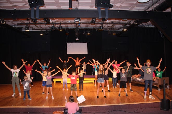 The cast of Willy Wonka KIDS rehearse on Wednesday, June 16.