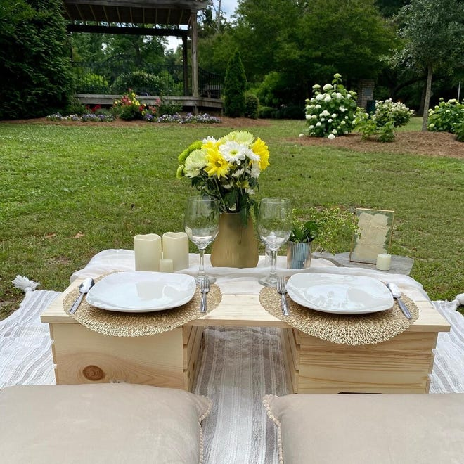 Customers can book a variety of different luxurious picnic experiences with PicnicNParris. Owner Keiosha Parris said the tables are custom-made and each experience can be tailored to the guests' needs.