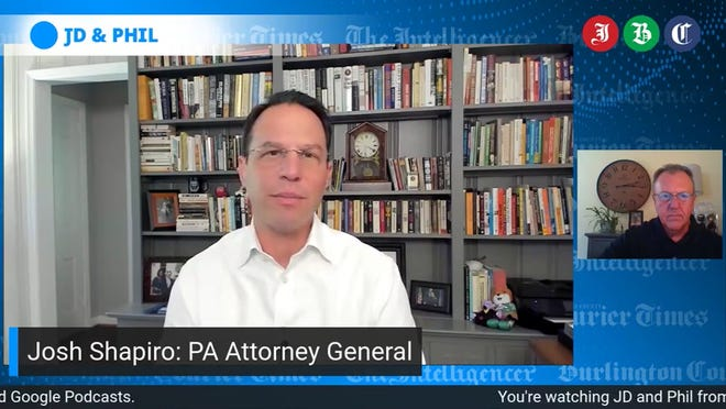 Phil's guest PA AG Josh Shapiro says GOP Big Lie is a danger to democracy.