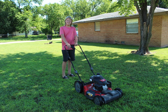 Tony Leeson Jr. takes on the 50-Yard Challenge in Bartlesville.