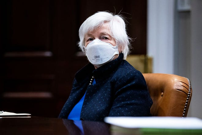"""Ohio sued U.S. Treasury Secretary Janet Yellen over the federal stimulus package prohibiting states from """"directly or indirectly"""" using that money to offset tax cuts."""