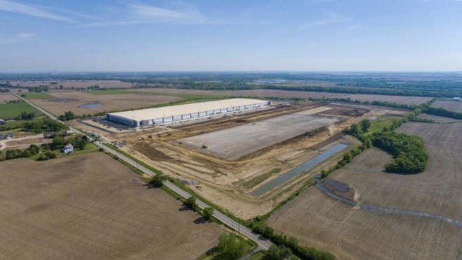 VanTrust Real Estate has started work on the second of two 1-million-square-foot-plus warehouses in the Rickenbacker Exchange development in Commercial Point.