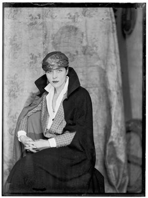 Portrait of American author and artist Djuna Barnes