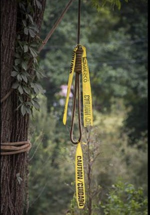 A noose was hung on a tree near the Ferrar home.