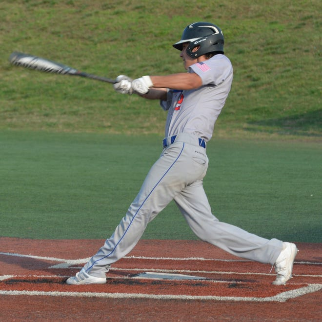 Alex Martinez and the Asheboro Blue Comets won their 12th straight game, 5-4 over Orange in the first round of the 3-A state playoffs. [Mike Duprez/Courier-Tribune]