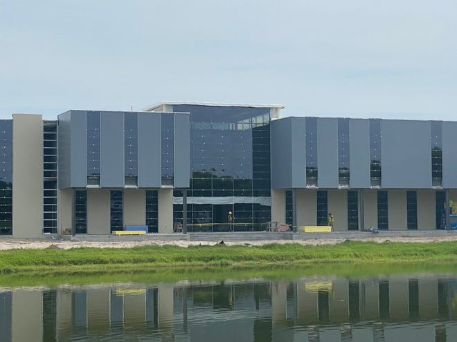 Palmer Florida's 'Building 4' under construction. It is expected to be finished by the start of the fall term in October.