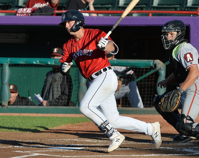 Erie SeaWolves prospect Spencer Torkelson bats on  June 15 against the Altoona Curve at UPMC Park. He was Major League Baseball's No. 1 overall draft pick in 2020.