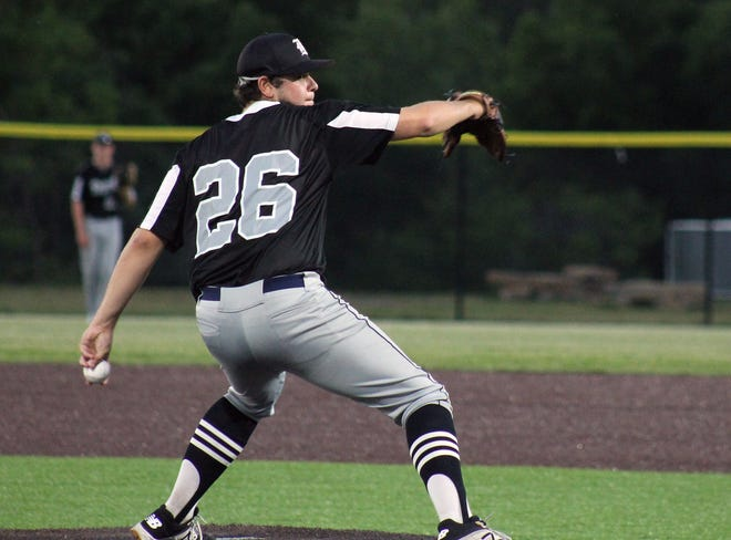 Andrew McLaughlin, a Lee's Summit North High School graduate, struck out 12 in a Ban Johnson League game Monday, his first start since throwing a no-hitter last week.