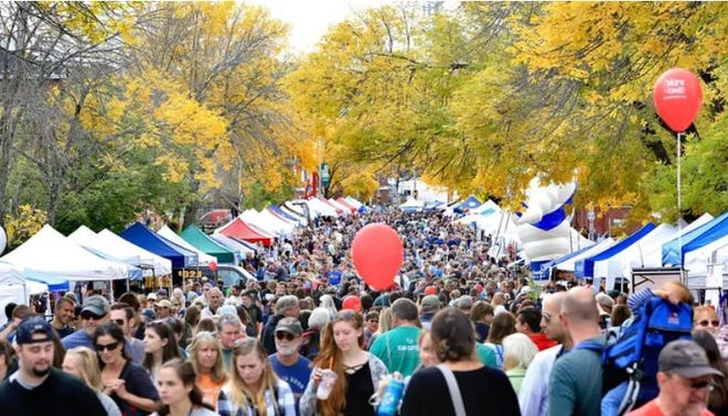 The Greater Dover Chamber of Commerce's Apple Harvest Day, seen here in 2018, is returning to the downtown in 2021 after being held mostly online in 2020 due to the coronavirus pandemic.