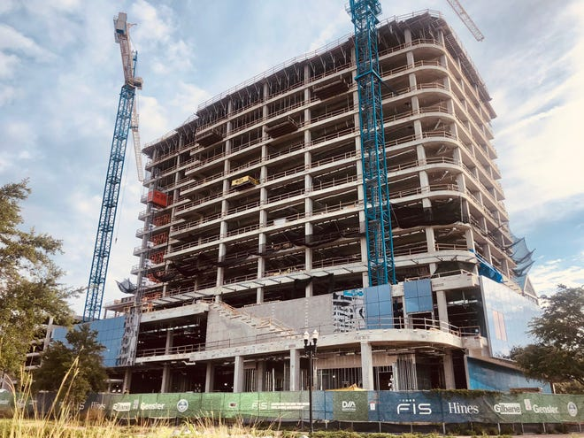 The new $145 million FIS headquarters complex on Jacksonville's Riverside Avenue is being built with the involvement of city incentives that envisioned the addition of 500 employees by 2029.