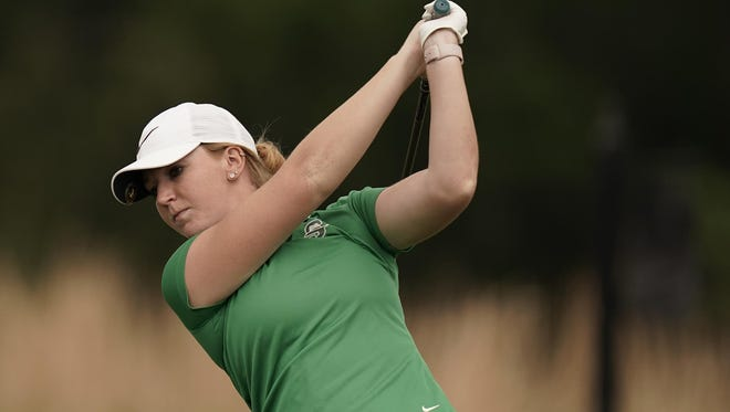 Sarah May of Fleming Island is two shots off the lead following the first round of the 92nd Florida Women's Amateur, at Hammock Dunes in Palm Coast.
