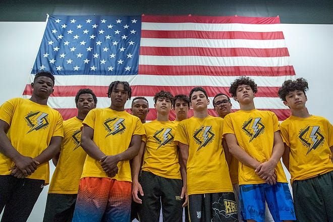 Galesburg High School wrestlers headed to the Illinois Wrestling Coaches and Officials Association sectionals are, from left; Nick Makwala, Jeremiah Morris, Che Thomas, Damian Thomas, Gauge Shipp, Alex Baughman, Rocky Almendarez, Jashon Parks, Santana Castellano and Angelo Abdallah.