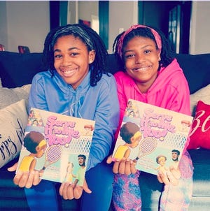 """Sisters Briah and Taylor O'Neal created and published the children's book """"Serve It To Me, Too!"""" to promote diversity, equity and inclusion in tennis."""