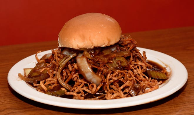 A chow mein sandwich at Mee Sum in Fall River.