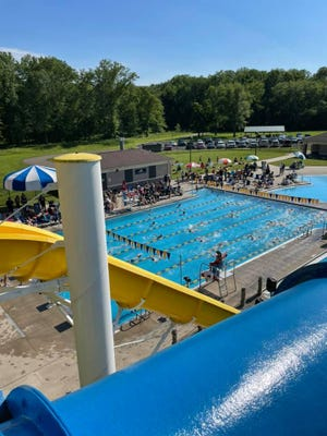 The Tallmadge Marlins topped the Hudson HEAT at a June 14 age group meet