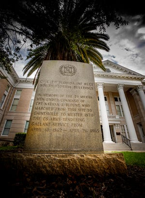 The Bartow City Commission allowed a Confederate monument on Polk County property to be moved to the city's Oak Hill Cemetery, but only under the condition that the county pay for the entire move and maintain the monument in its new place.