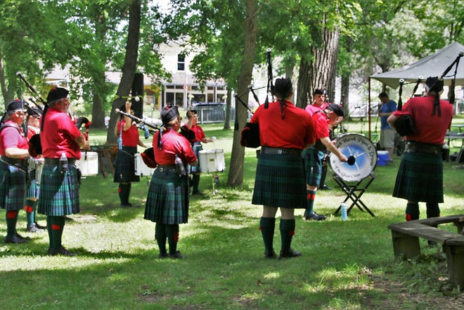 Black Hawk Pipes and Drums perform in this undated photo.