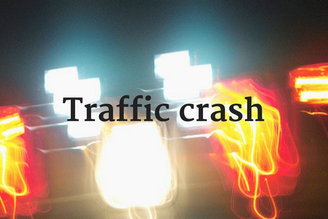 Four people were injured in a crash in Ravenna on Saturday evening.