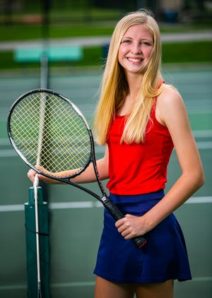 Vanguard's Ryleigh Cribbs is this year's Ocala Star-Banner Girls Tennis Player Of The Year. Cribbs finishedthe regular season 12-0, going undefeated in all of her singles and doubles matches. She also went on to be the county runner-up, district runner up and a regional semifinalist.