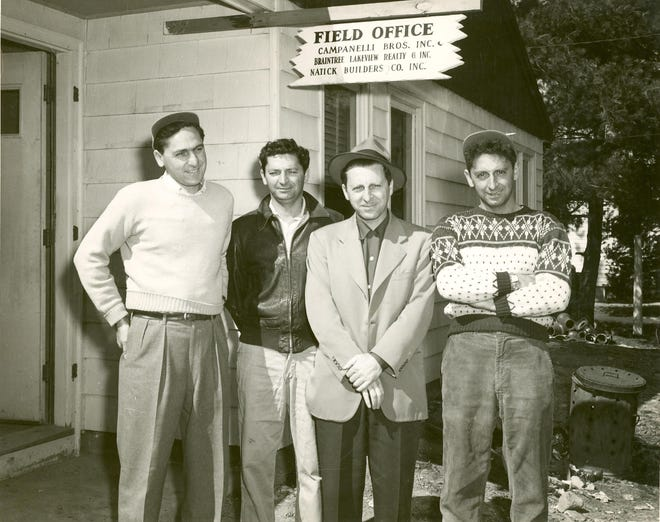 From left are the Campanelli brothers: Nicholas, Alfred, Mike and Joe. The four were instrumental in real estate development throughout the region. Nicholas, the last of the Campanelli brothers, died in 2013 at the age of 92.