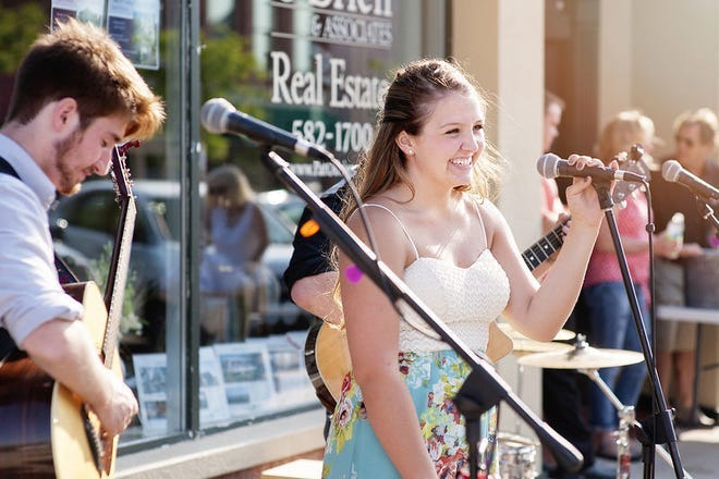 A past musical performance at Boyne City's Stroll the Streets is shown. The summer event series kicked off for 2021 on Friday,  June 11 and will continue through the summer bringing live music to downtown Boyne City each Friday night.