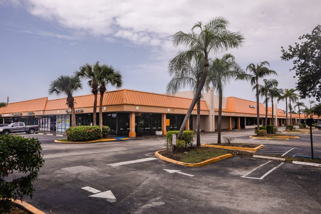 Delray Commons at the intersection of W. Atlantic Avenue and Military Trail will soon get a multi-million-dollar makeover, June 15, 2021. PEBB Enterprises recently purchased the 40-year-old, 7.2-acre shopping plaza for $10.5 million.
