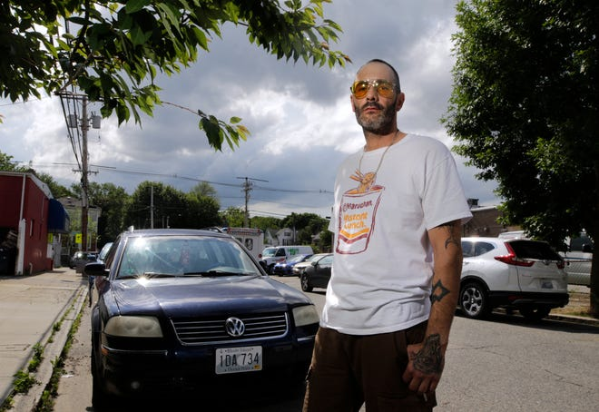 John Flodin of Providence drives a car similar to one that was carjacked Sunday. He feels he was mistreated by a Providence police officer who ordered him out of his car at gunpoint, tried to force him into the back of his cruiser and neglected to run the license plate to determine the car's ownership.