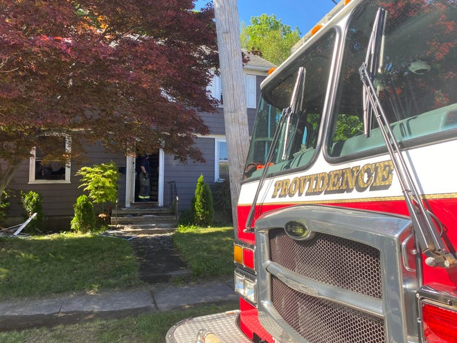 A fire in a multi-family house on Armington Avenue on Friday night sent several city firefighters to the hospital.