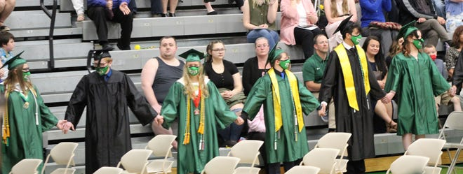 CHS seniors hold hands during the event.