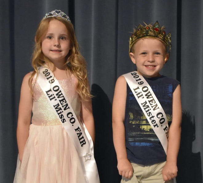 Earning the title for 2019 Little Miss and Mister were Emma Hogan and Landon Abbitt. Emma is the daughter of Gabe and Brittany Hogan of Spencer. Landon is the son of Andrew and Candace Abbitt of Gosport.