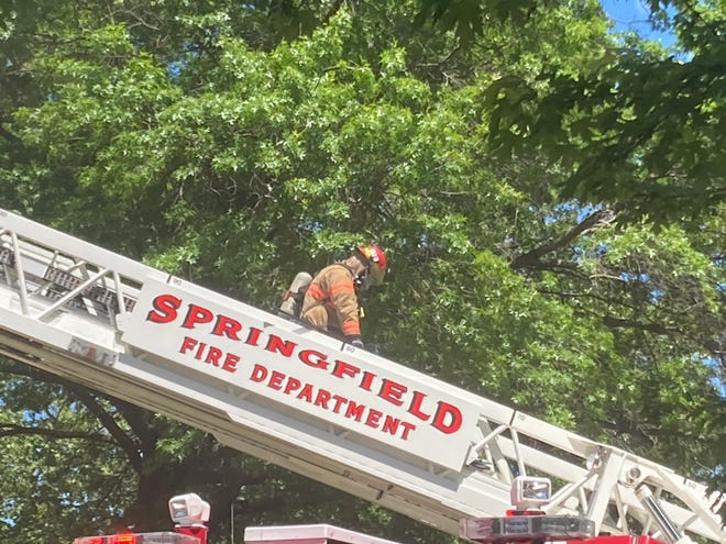 Springfield firefighters were called to house fires in the 900 block of Enterprise and the 200 block of South Paul Street Tuesday afternoon. Families living in both residences were displaced, according to Fire Chief Brandon Blough.