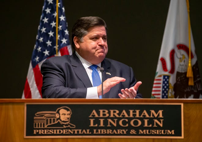 Gov. JB Pritzker, shown Wednesday after signing a bill making Juneteenth a state holiday, had signed 17 bills into law as of Friday. Lawmakers passed a total 664 bills that will go to the governor's desk.