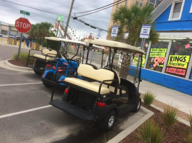 Following the City Council's action earlier in the week to allow golf carts and UTVs on many city streets, the park district Thursday announced it would sell some of  the older carts in its golf course fleet.