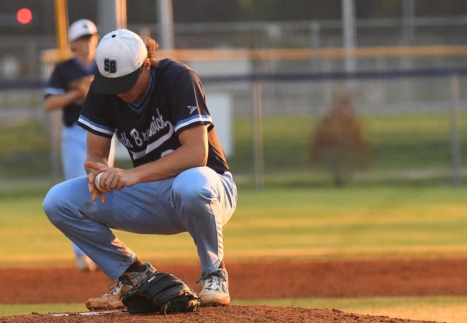 Aubrey Smith and South Brunswick couldn't hold on against Southeast Guilford on Tuesday night in the first round of the Class 3A state baseball playoffs.