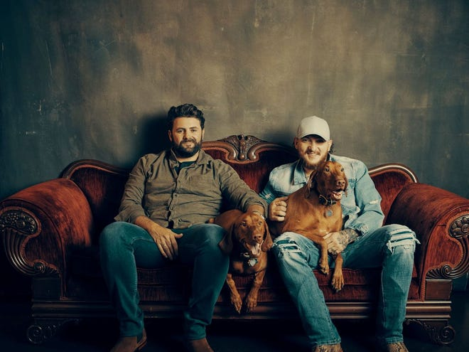 Pryor Baird, left, and Kaleb Lee, of Pryor and Lee, will have an online concert at 7 p.m. June 23 as a fundraiser for 130 humane society organizations.
