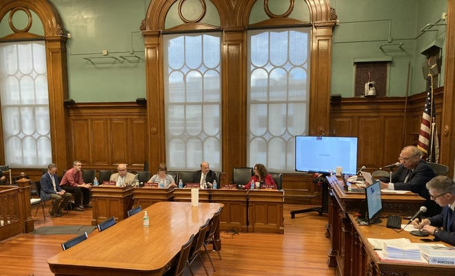The City Council Tuesday held its first in-person, open-to-the-public meeting of 2021 in the Esther Howland chamber at City Hall.