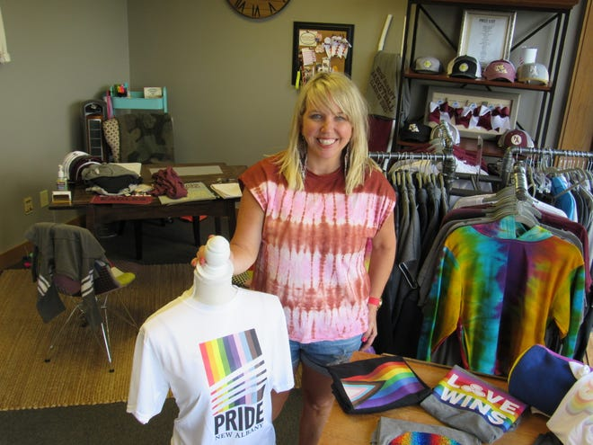 Megan Lindholm, owner of 634 Spirit, a specialty clothing store at 5828 Zarley St., plans to attend to show her support for Pride New Albany at the season's first New Albany Farmers Market, scheduled for 4 to 7 p.m.  June 24 in Market Square.