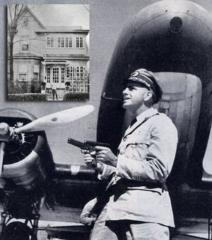 """Frank """"Dude"""" Higgs poses in a photo taken by Life magazine's Clare Boothe Luce in front of his Chinese China National Aviation Corp. transport airplane in early 1942, when Luce was on assignment to Burma for the magazine. Higgs flew Luce and others from Lashio, Burma, after the Japanese threatened the eastern coast."""