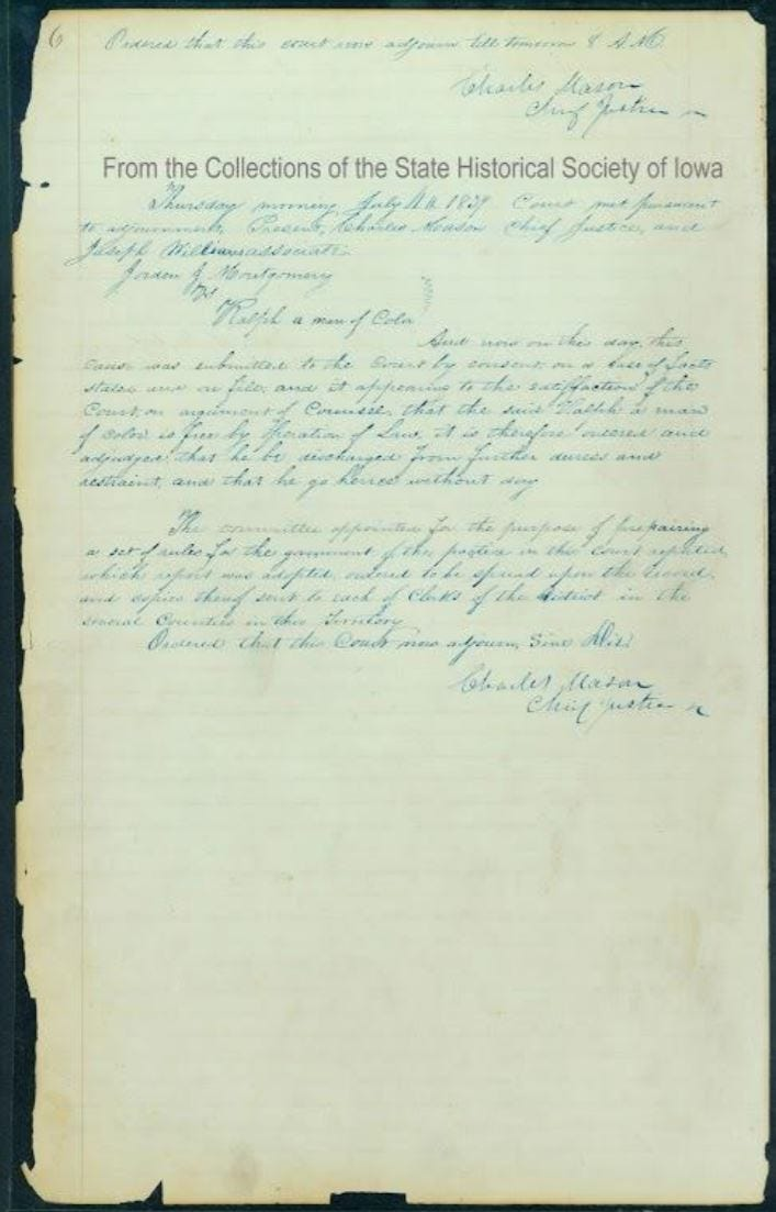 The Territorial Supreme Court's ruling in the case of Ralph.