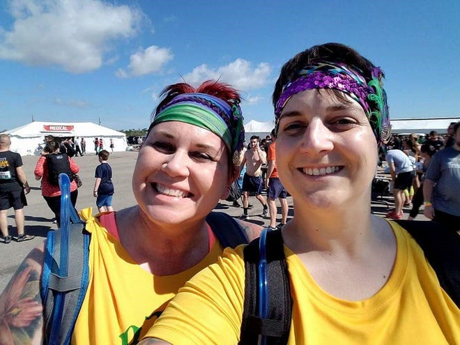 Beth Yanka, right, and mom Kimberly Steedman at Steedman's first Tough Mudder event in metro Detroit in March 2017.