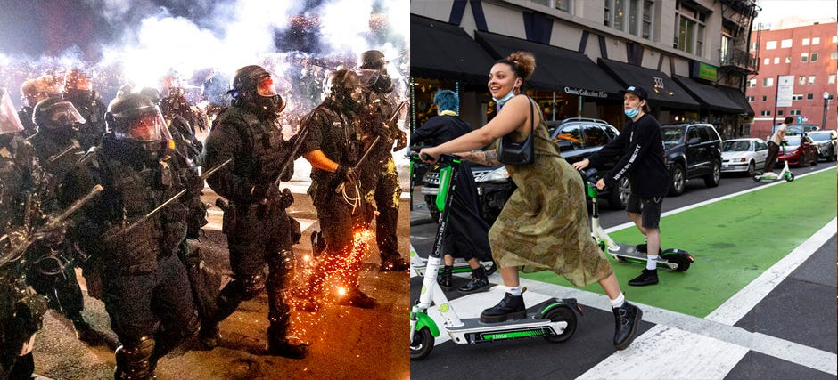 Portland, scarred by unrest and violence, tries to come back 2
