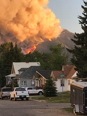 The Roberson Draw Fire as seen from Red Lodge last week.