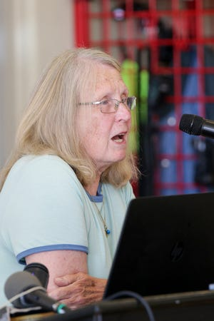 Patti Mason, former Wabash Township Trustee, speaks during a meeting of the Wabash Township board, Tuesday, June 15, 2021, in Wabash Township in West Lafayette.