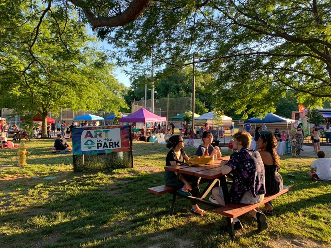 The first Art in the Park event of the summer on June 15, 2021