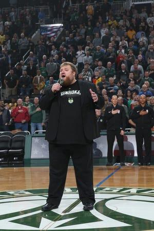 Oconomowoc resident BenTajnai has sung the national anthem at about 40 Bucks games since 2014.