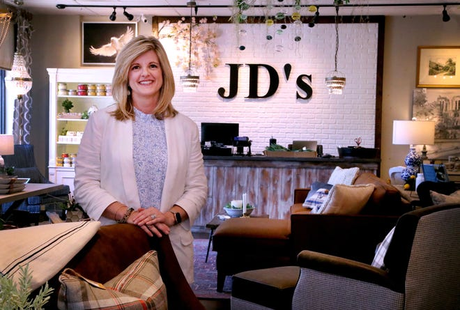 Jennifer Davenport in her home design store JD's All About Home on Tuesday, June 15, 2021. The Murfreesboro store will be moving to a larger space the former Pepper+Peach Hot Chicken location at 1824 Old Fort Parkway in Murfreesboro.