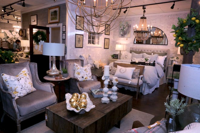 A living room and bedroom display at JD's All About Home on Tuesday, June 15, 2021. The Murfreesboro store will be moving to a larger space the former Pepper+Peach Hot Chicken location at 1824 Old Fort Parkway in Murfreesboro.