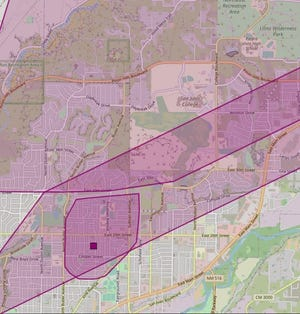 The Farmington Electric Utility System around 4 p.m. on June 16 posted an outage map for residents in central Farmington who had lost power.